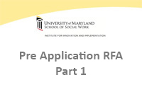 Pre Application RFA - Part 1