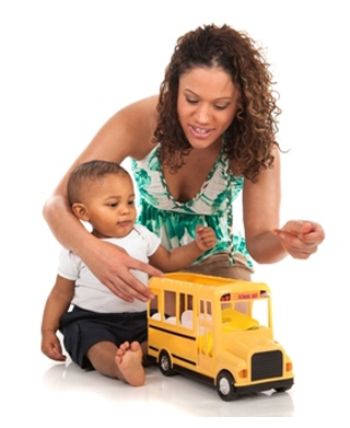 Playtime with Toy Bus